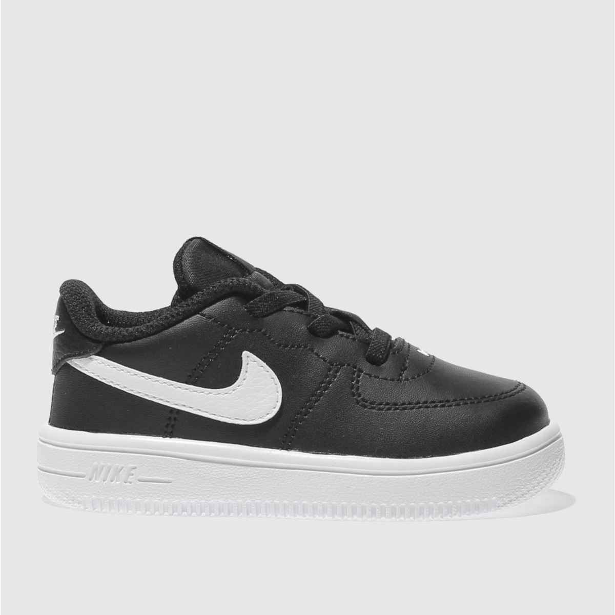 nike black & white force 1 18 bt Toddler Trainers