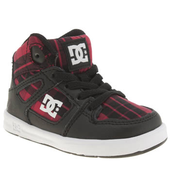 Dc Shoes Black & Red Rebound Se Ul Unisex Toddler