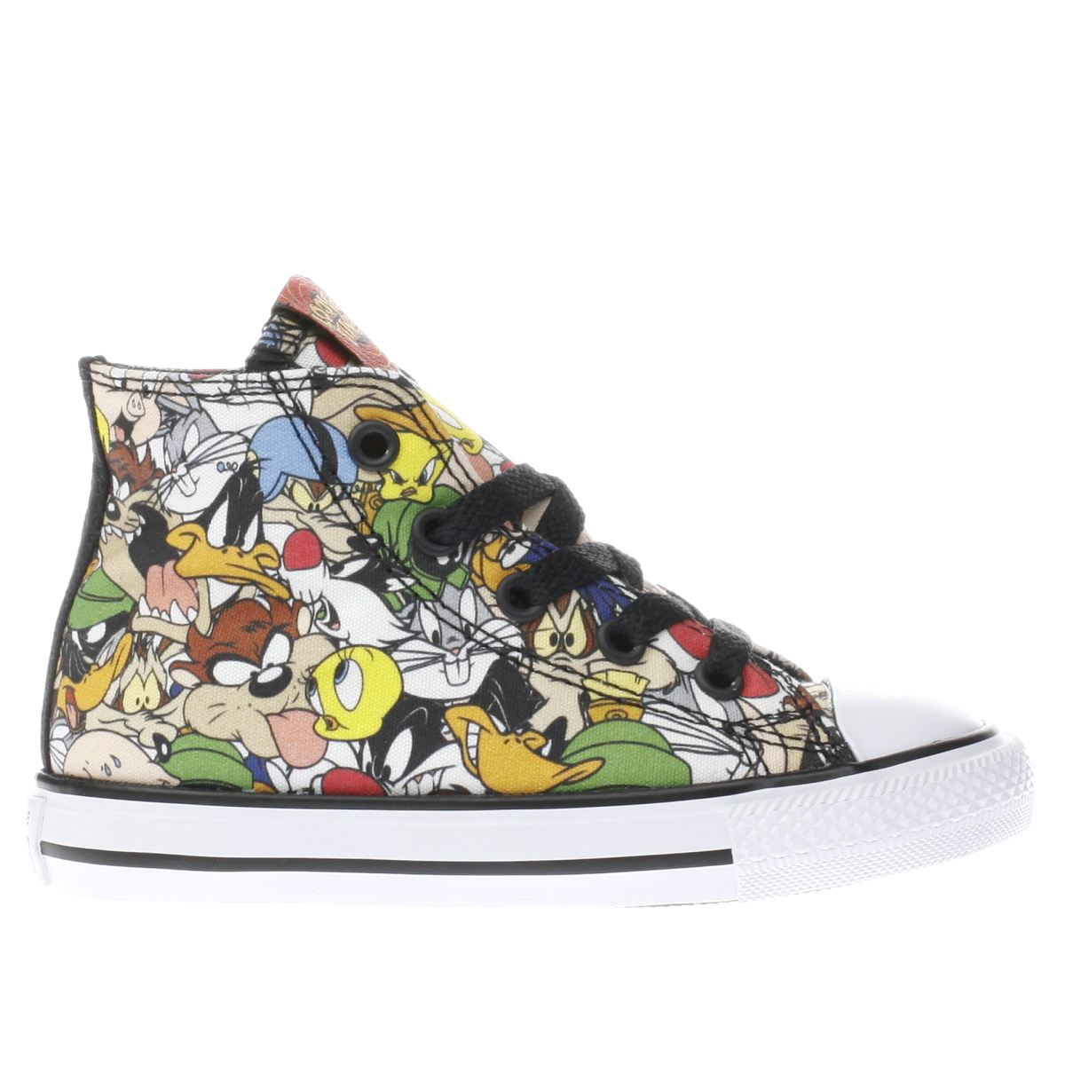 converse black & green looney tunes multi hi Toddler Trainers