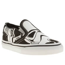 Toddler White & Black Vans Cl Slip-on Star Wars