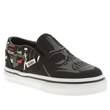 Toddler Black & White Vans Slip-on Star Wars