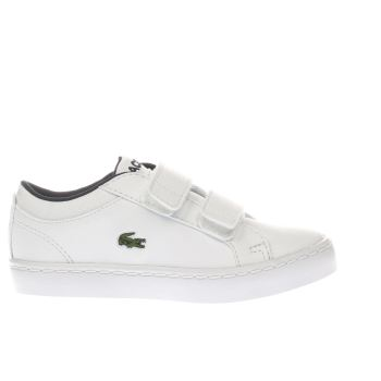 LACOSTE WHITE STRAIGHTSET TODDLER TRAINERS