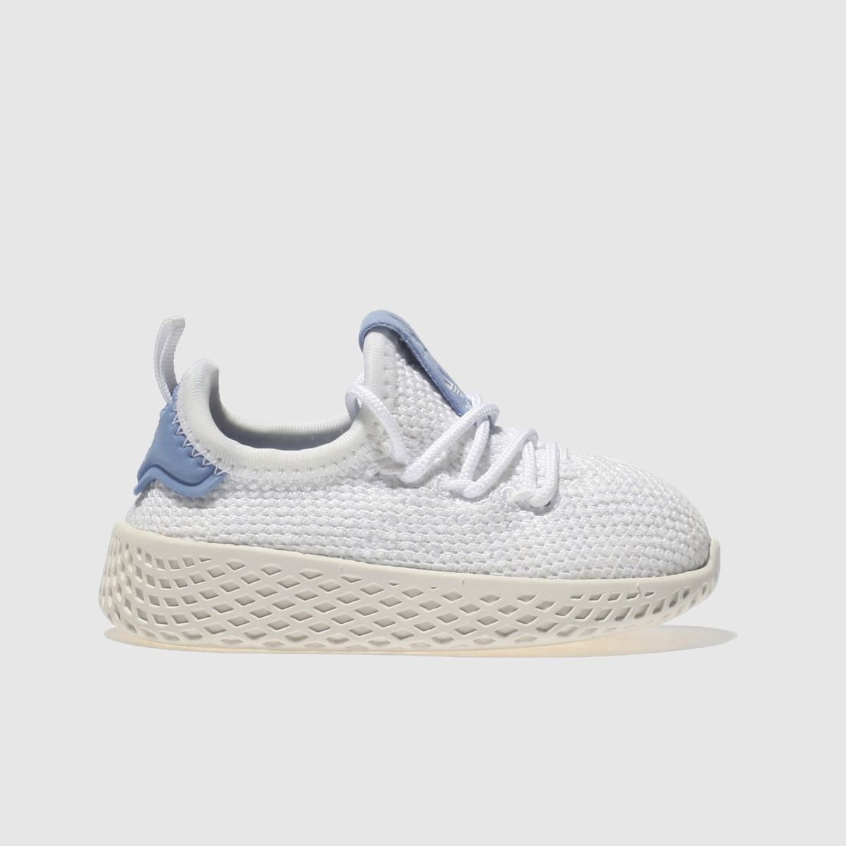 Adidas White & Blue Pharrell Williams Tennis Hu Unisex Toddler Toddler