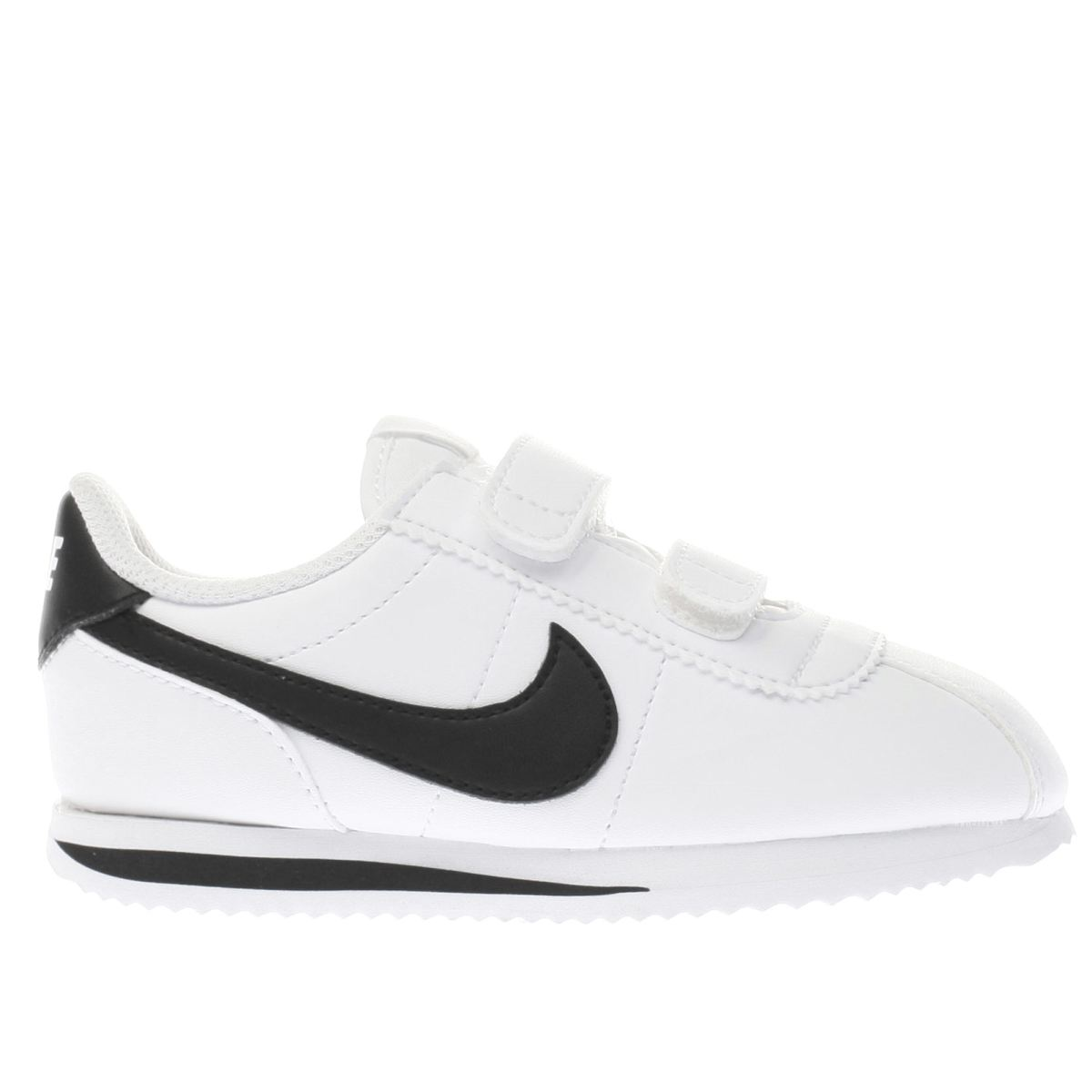 nike white & black cortez basic Toddler Trainers