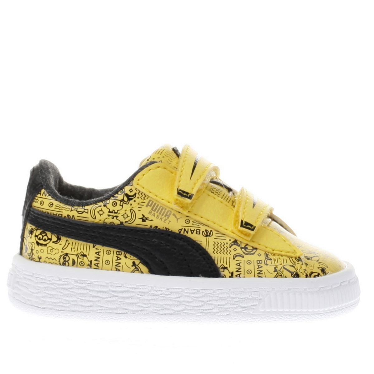 puma yellow minions basket Girls Toddler Trainers