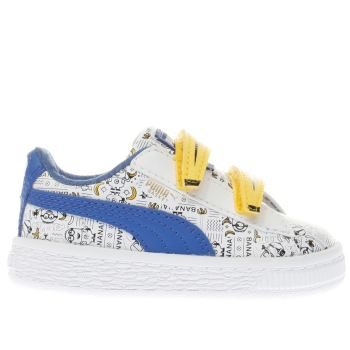 Puma White Minions Basket Unisex Toddler