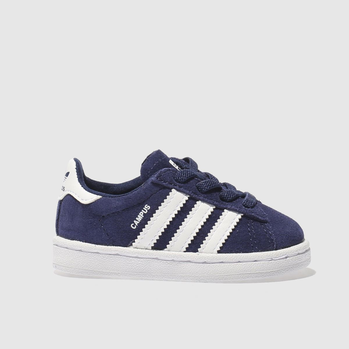 adidas navy & white campus Toddler Trainers