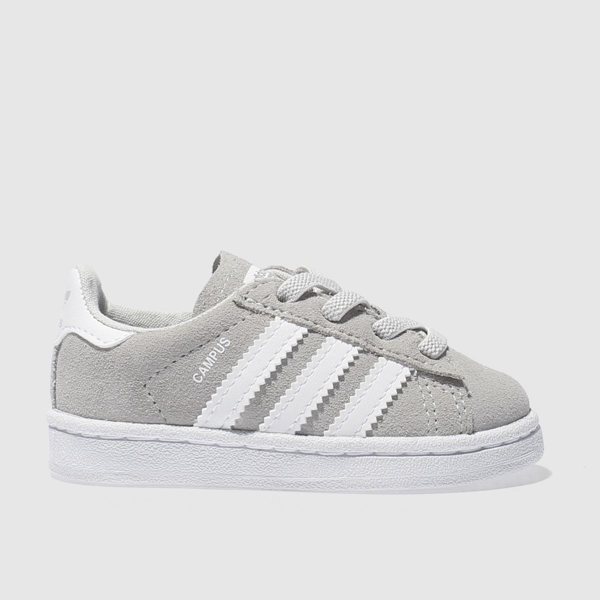 adidas light grey campus Toddler Trainers