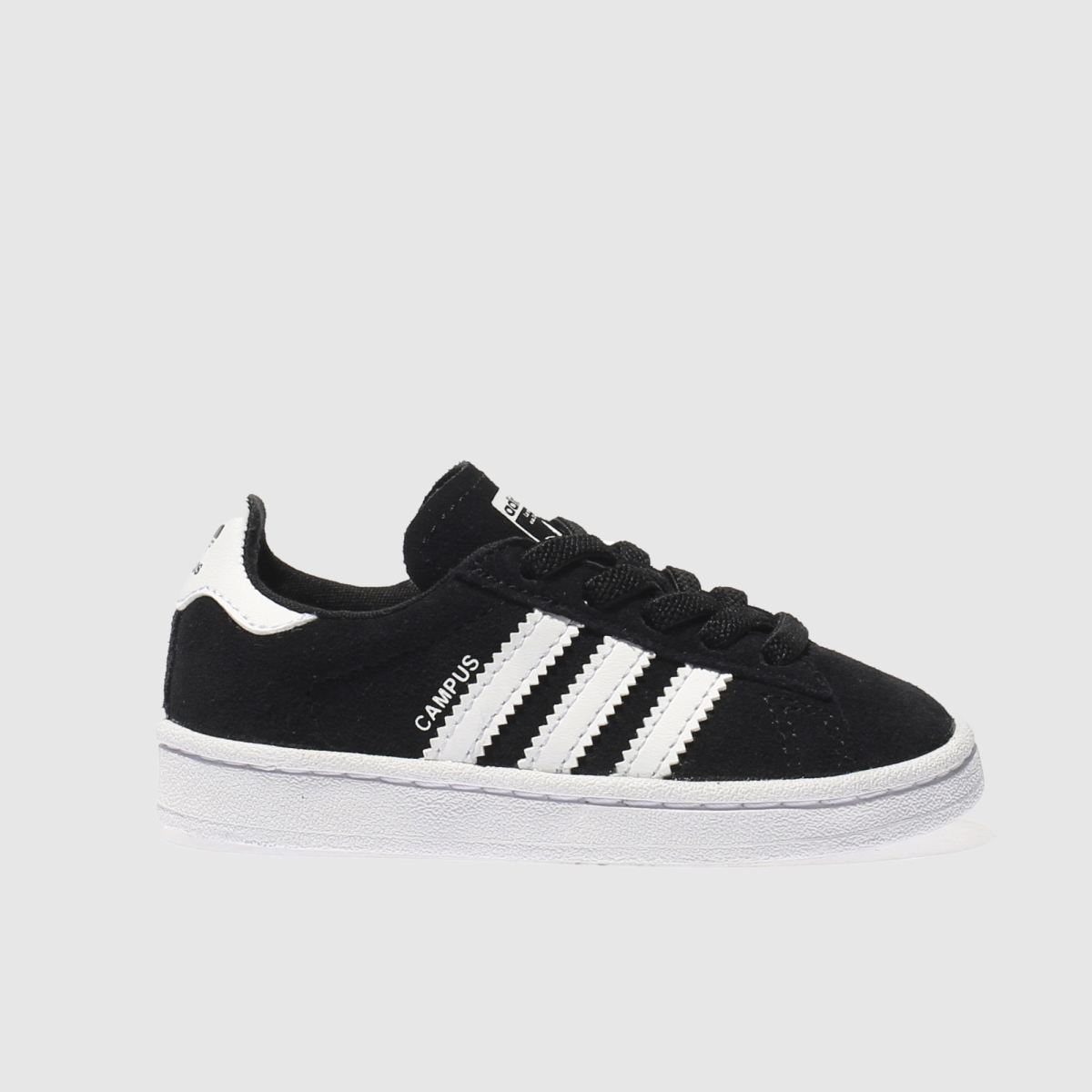 adidas black & white campus Toddler Trainers