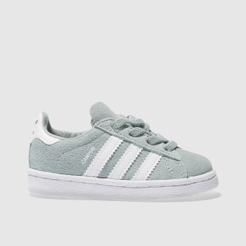 ADIDAS LIGHT GREEN CAMPUS TODDLER TRAINERS