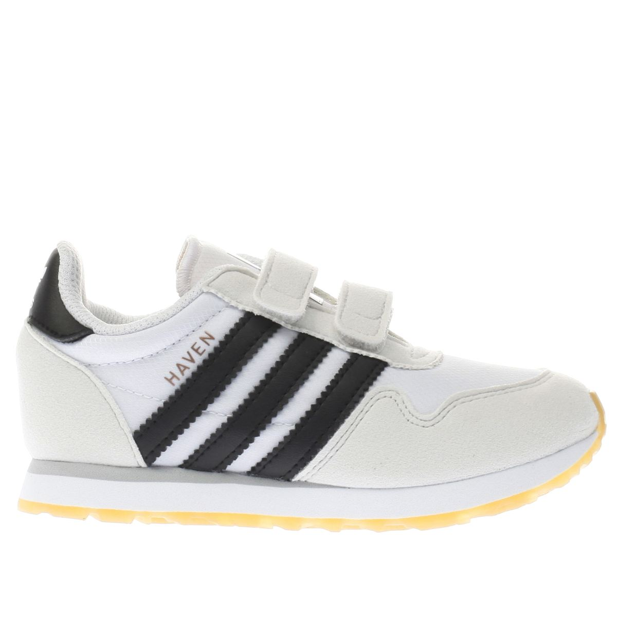adidas white & black haven Toddler Trainers