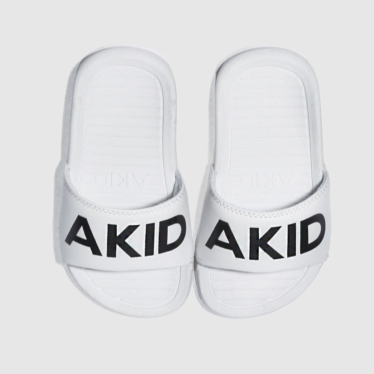 Akid Akid White & Black Aston Toddler Sandals