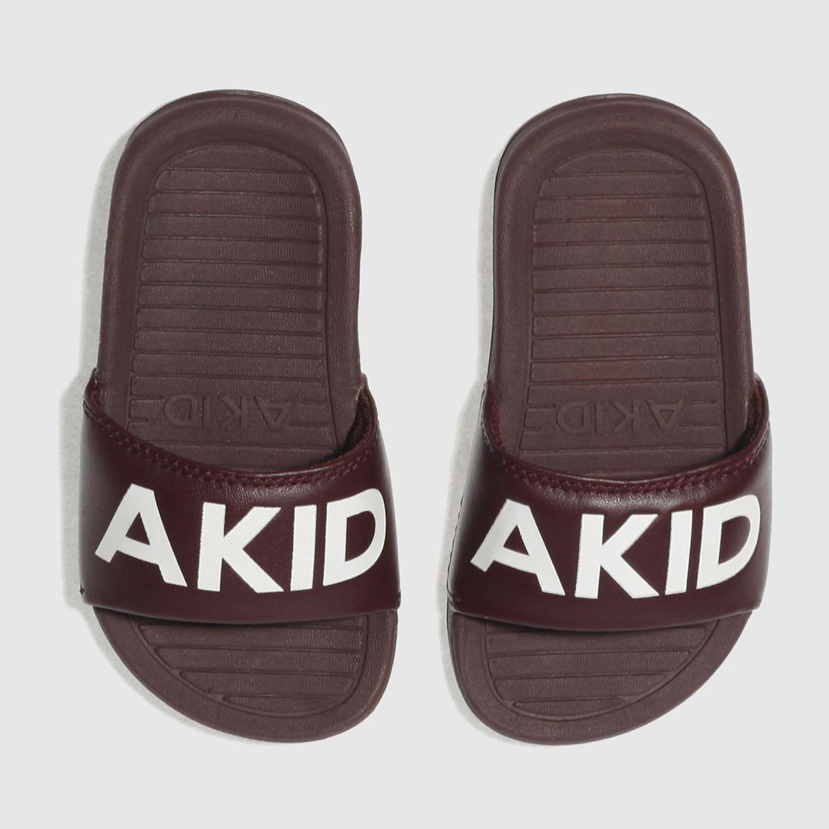 Akid Akid Burgundy Aston Toddler Sandals