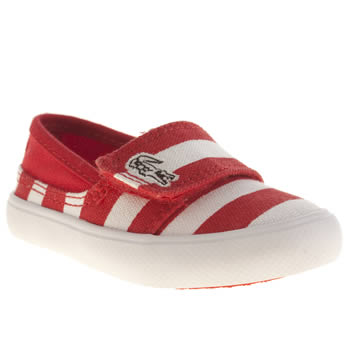 Lacoste White & Red Marice Unisex Toddler