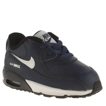 Nike Navy & White Air Max 90 Unisex Toddler