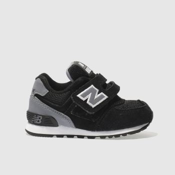 New Balance Black & Grey 574 Unisex Toddler