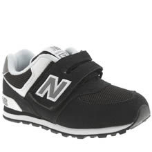 New Balance Black & White 574 Unisex Toddler