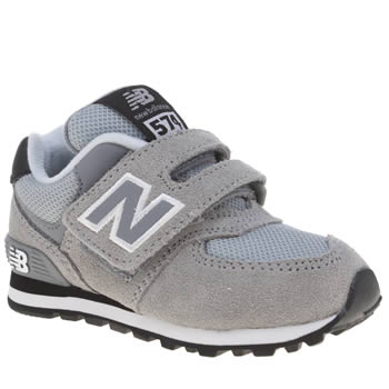 New Balance Grey & Black 574 Unisex Toddler
