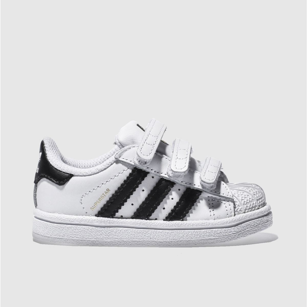 adidas white & black superstar foundation Boys Toddler Trainers