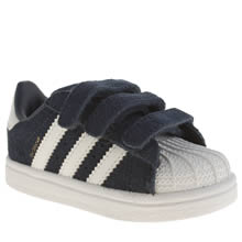 Adidas Navy & White Superstar Unisex Toddler