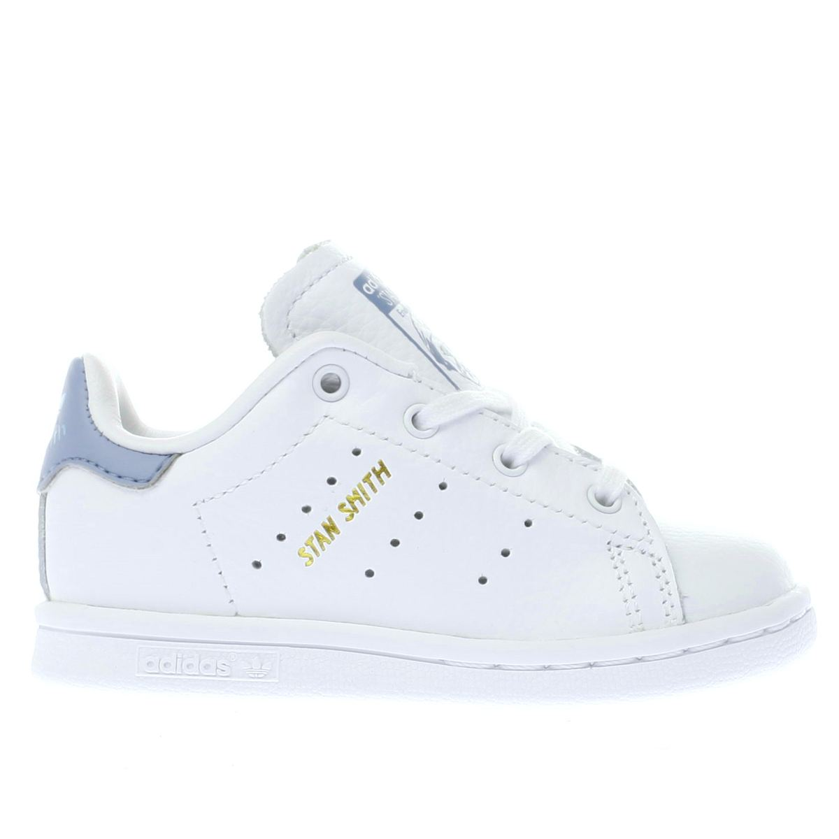 adidas white & blue stan smith Toddler Trainers