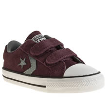 Toddler Burgundy Converse Star Player