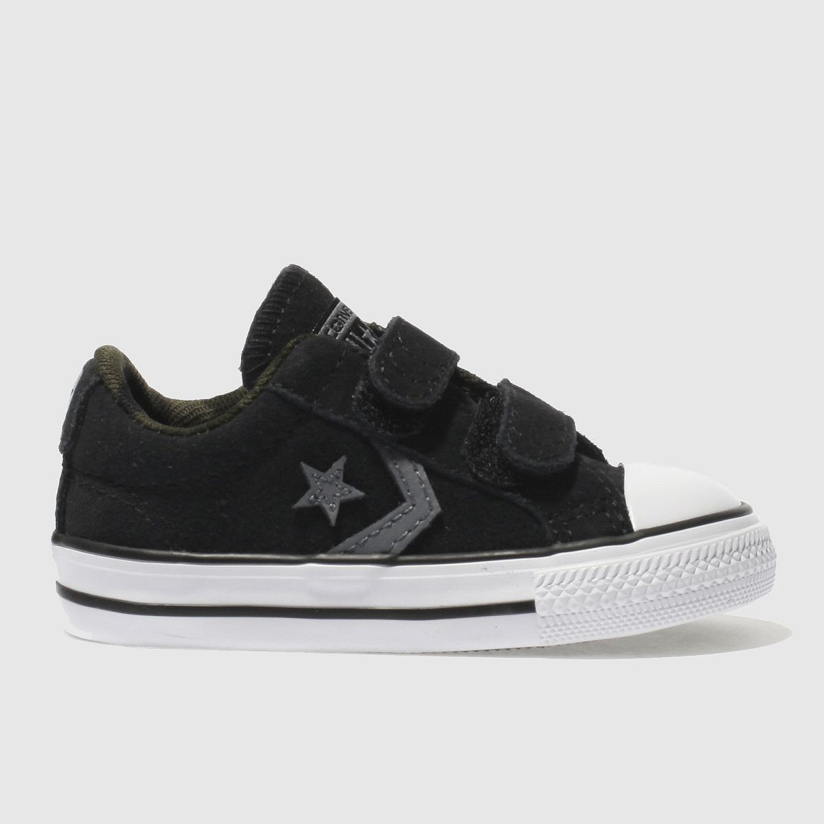Converse Black & Grey Star Player 2v Trainers Toddler