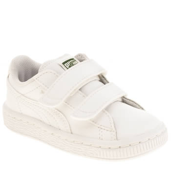 Puma White Basket Unisex Toddler