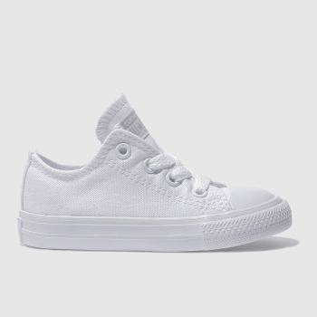Unisex Converse White All Star Lo Unisex Toddler