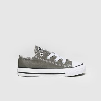 Unisex Converse Grey All Star Lo Unisex Toddler