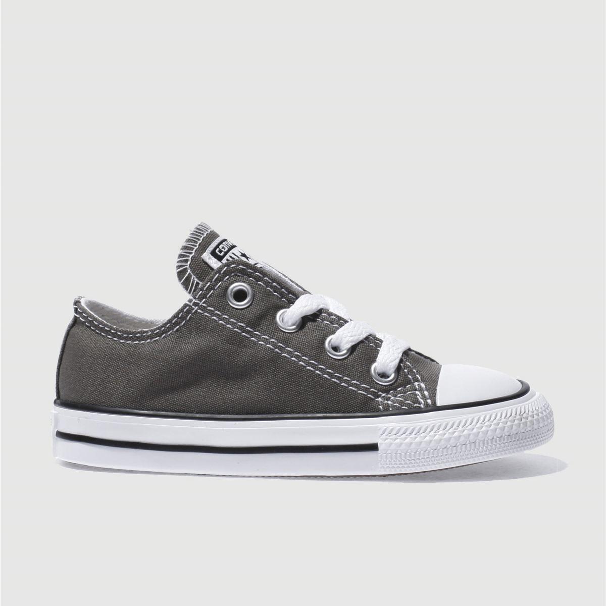 Converse Grey All Star Lo Trainers Toddler