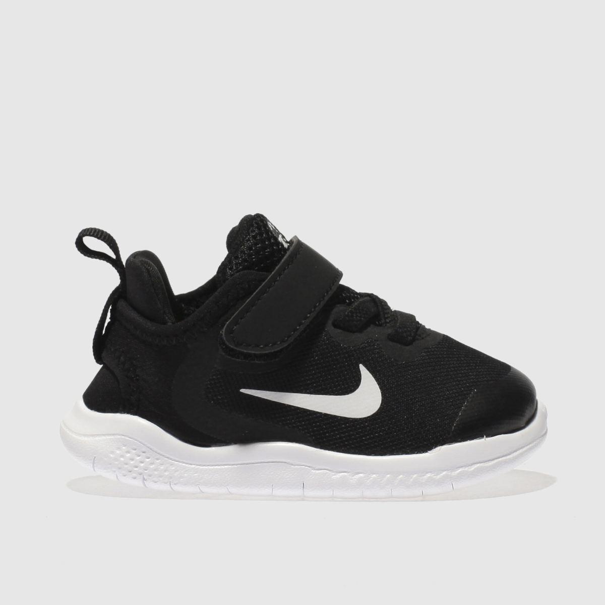 Nike Black & White Free Rn 2018 Trainers Toddler