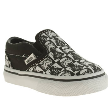 Vans White & Black Classic Slip On Unisex Toddler