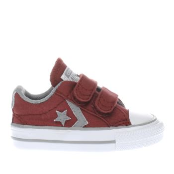 Converse Burgundy Star Player 2v Unisex Toddler
