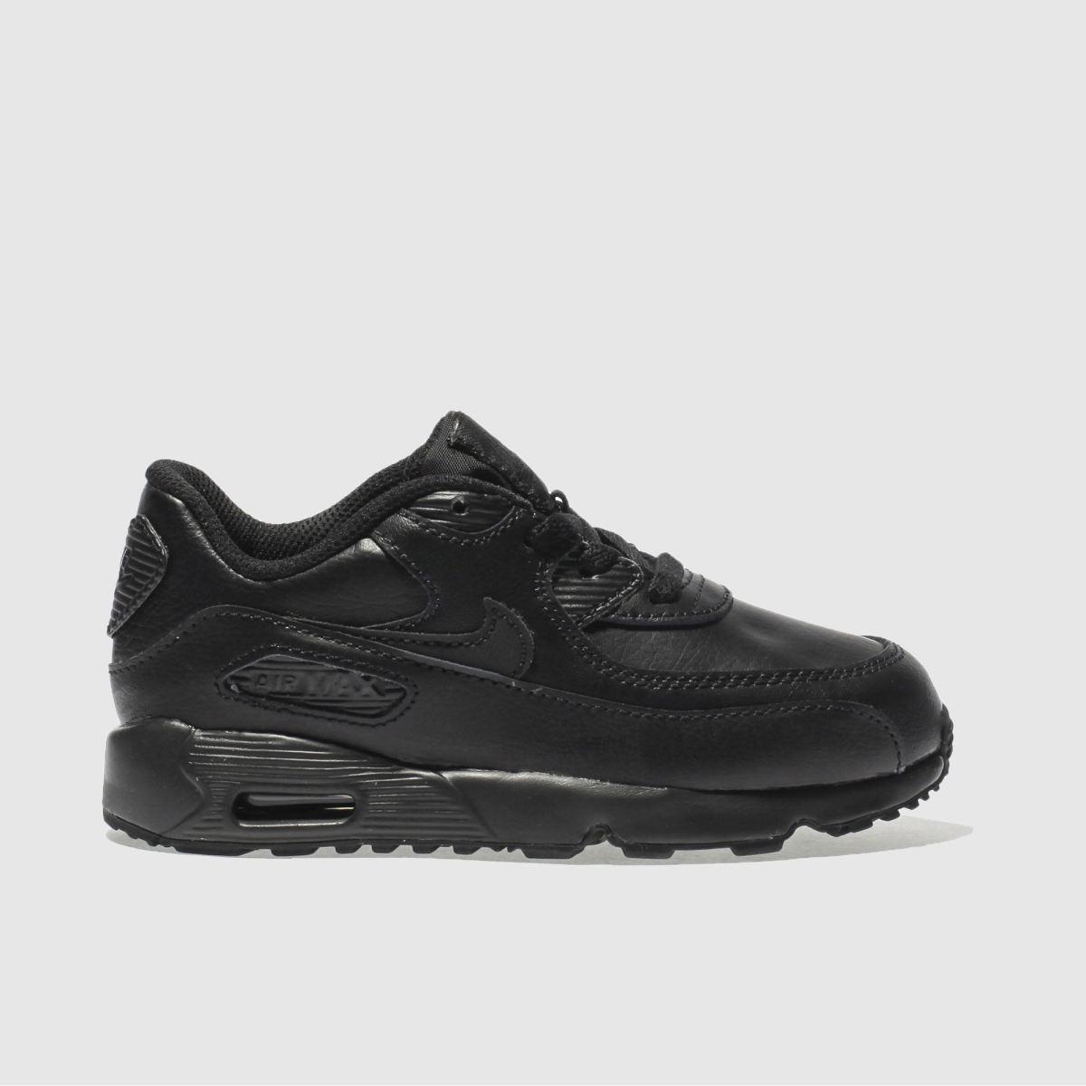 Nike Black Air Max 90 Toddler Trainers
