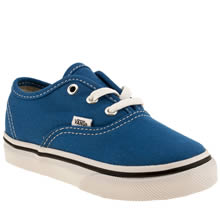 Toddler Blue Vans Authentic