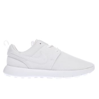 NIKE WHITE ROSHE ONE JUNIOR TRAINERS