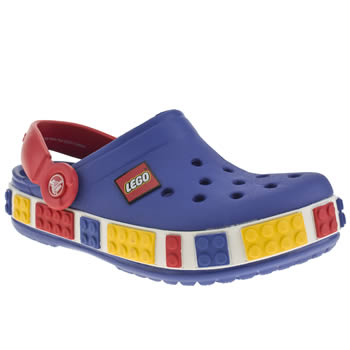 kids crocs blue lego clog trainers