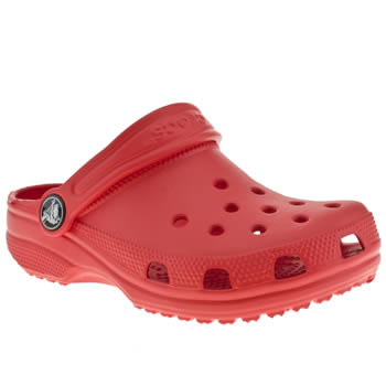 kids crocs red classic trainers