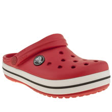 Junior Red Crocs Crocband