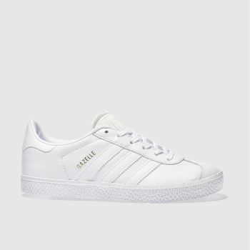 Adidas White Gazelle Unisex Junior