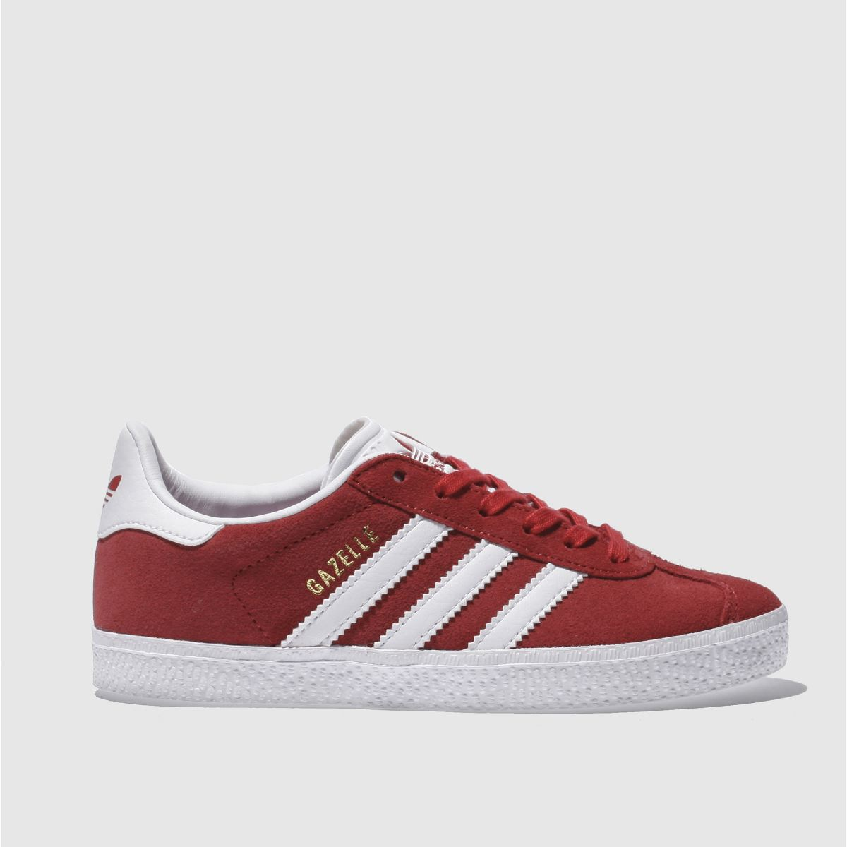 adidas red gazelle Junior Trainers