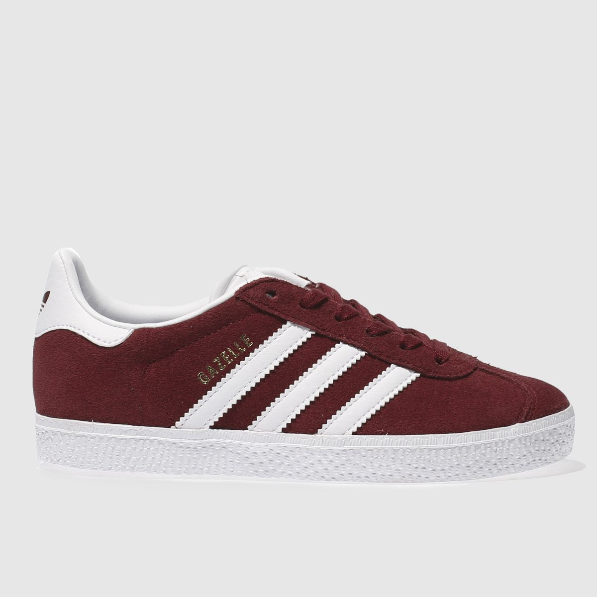 adidas burgundy gazelle Junior Trainers