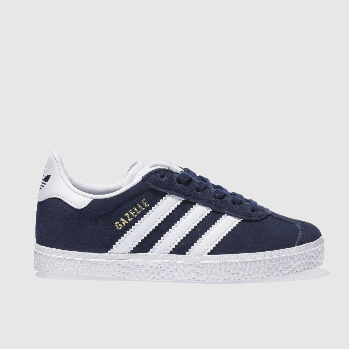 adidas navy & white gazelle Junior Trainers