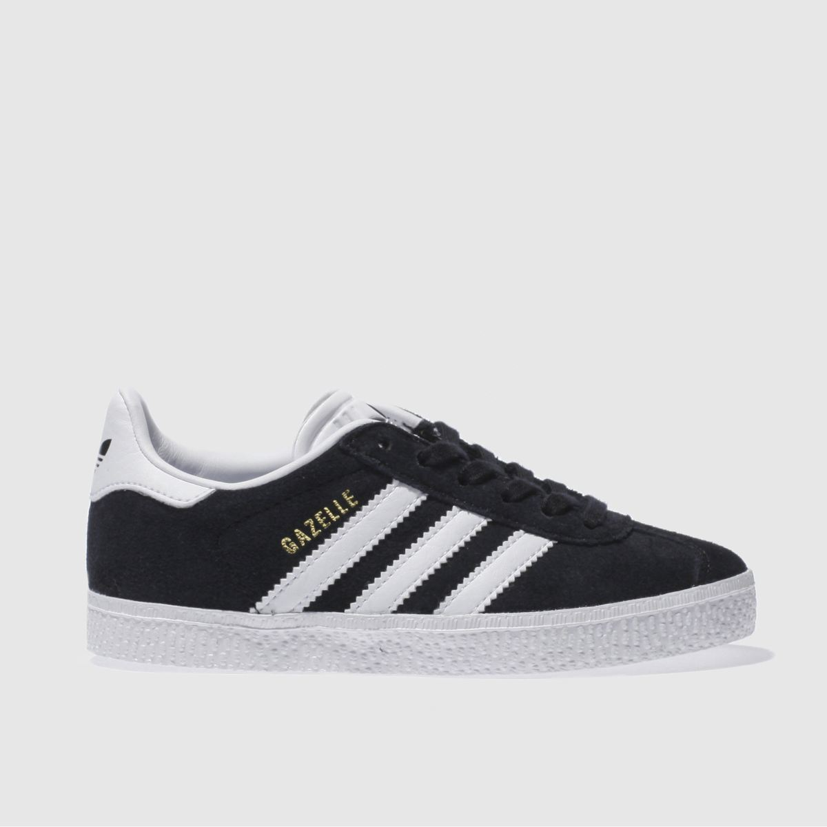 adidas black & white gazelle Junior Trainers