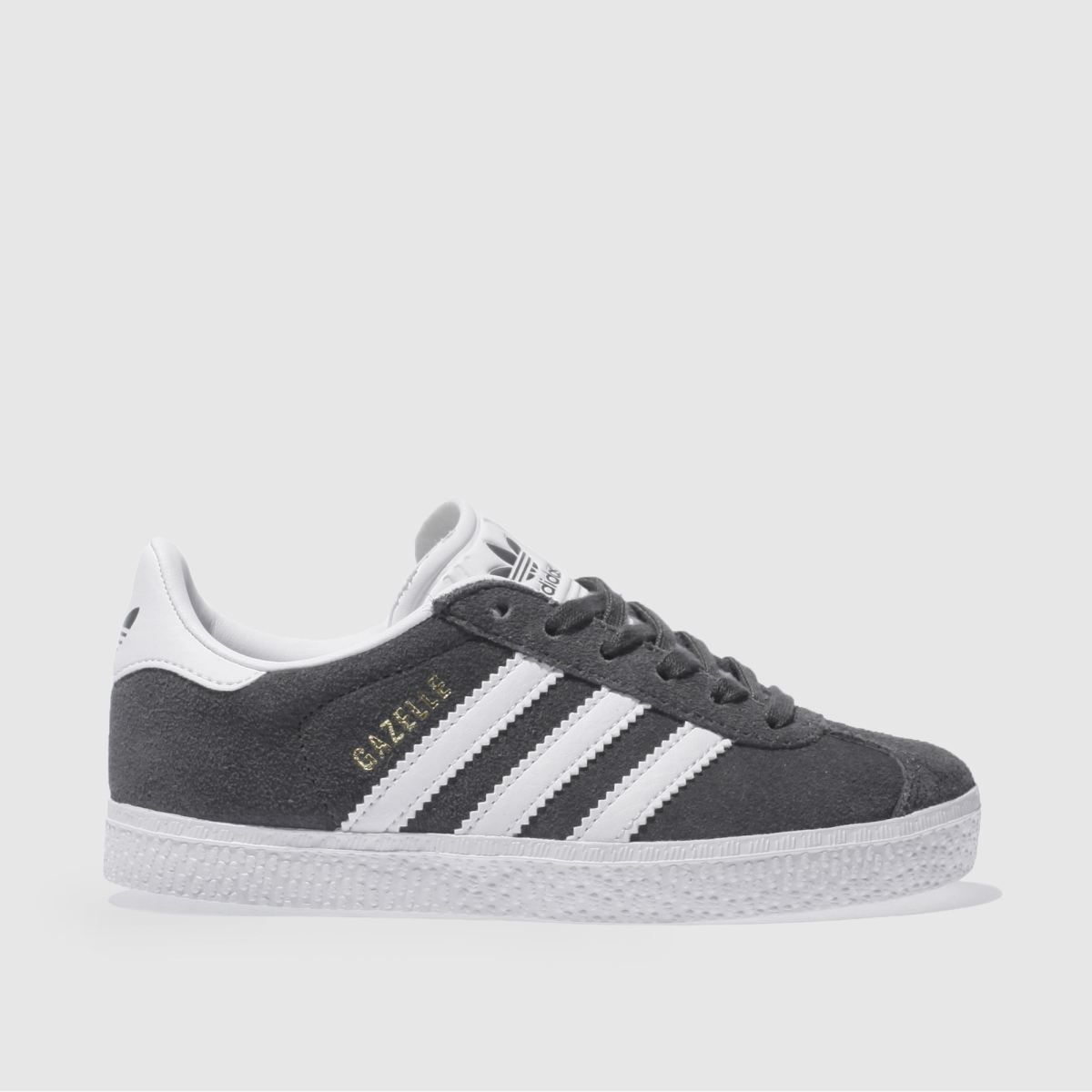 adidas dark grey gazelle Junior Trainers