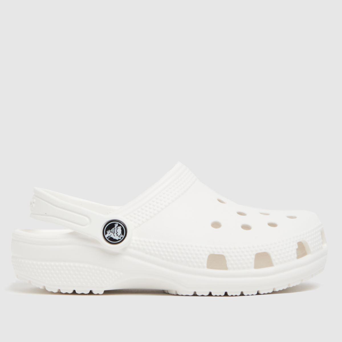 Crocs Crocs White Classic Clog Junior Sandals