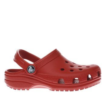 Crocs Red Classic Clog Unisex Junior
