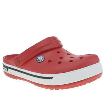 Crocs Red Crocband 11-5 Clog Unisex Junior