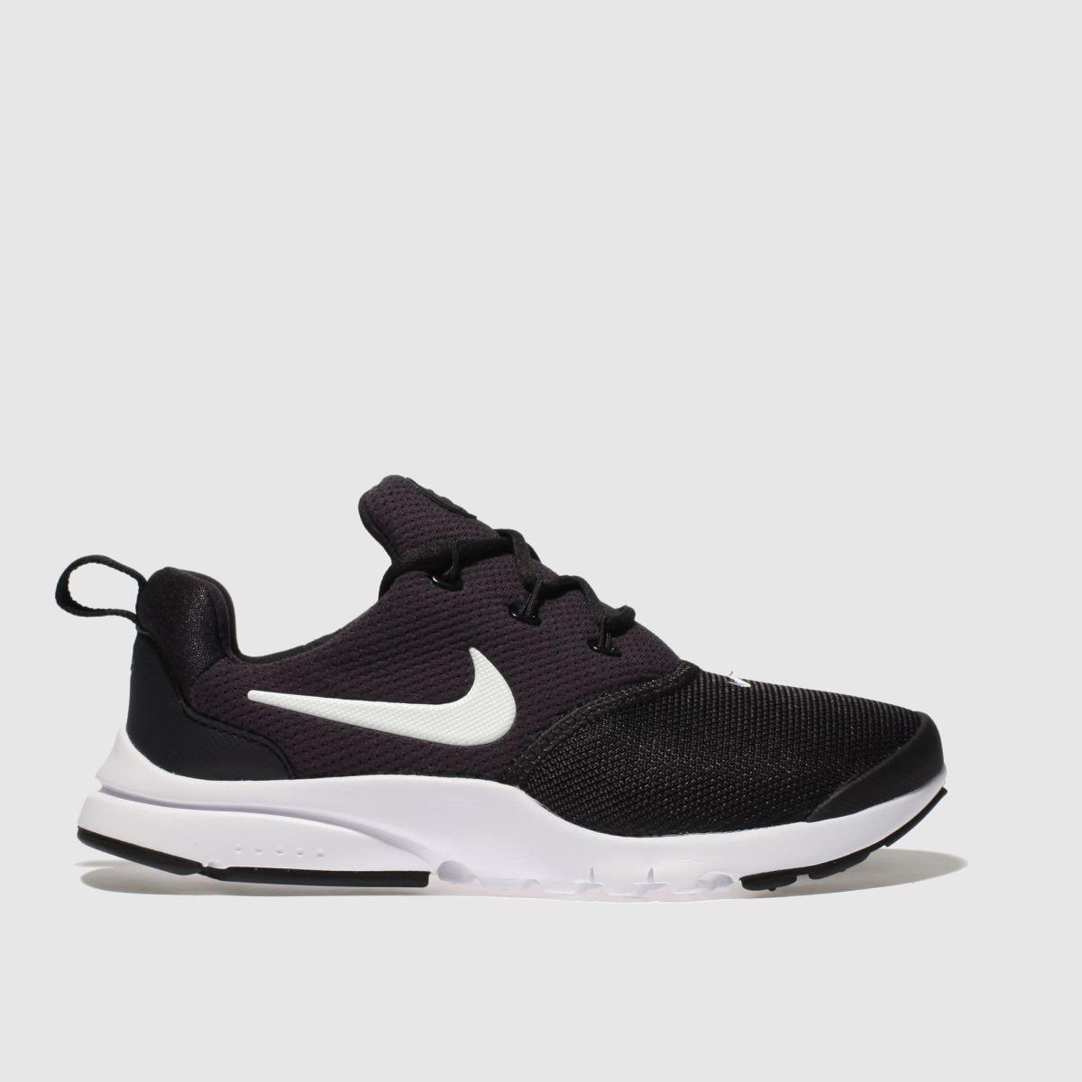 Nike Black & White Presto Fly Trainers Junior